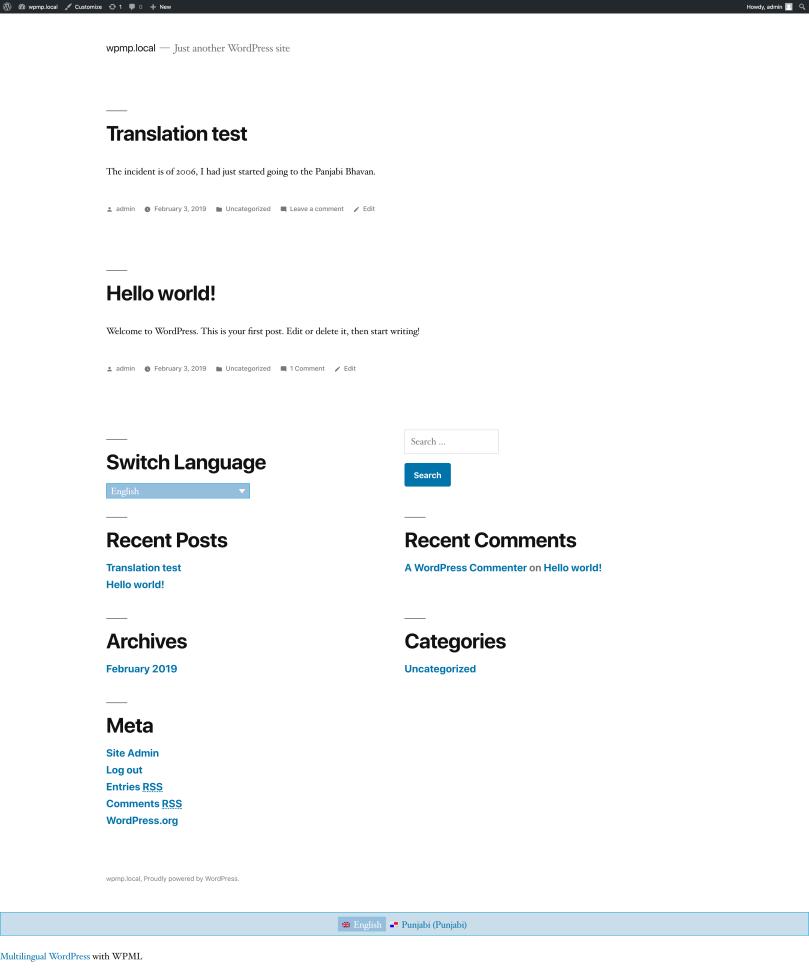 Testing Part 1 – WordPress Multilingual Plugin (WPML) – Davi